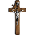 Wooden Holy Spirit Crucifix with Dove Cutout