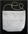 First Communion Cotton and Lace Purse