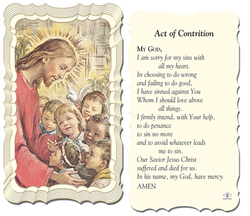 It is a graphic of Critical Act of Contrition Prayer Printable