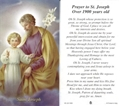 St Joseph Worker Prayer Card