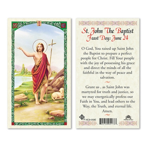 Bible Quotes About St John The Baptist: Prayer To St John The Baptist Laminated Holy Card