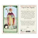 Saint Augustine Laminated Prayer Card