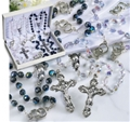 Crystal Wedding Rosaries Gift Set