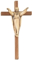 12 Inch Walnut Antique Bronze Risen Christ Crucifix