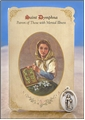 St Dymphna (Mental Illness) Healing Holy Card with Medal