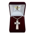 Confirmation Dove on Cross Necklace in Gift Box