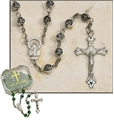 Metal Rose Bead Rosary