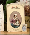 Saint Anne (Homemakers) Holy Card with Medal