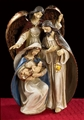 "13"" Nativity with Adoring Angel Figurine"