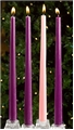 12 Inch Advent Candles, Set of 4