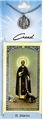 St Martin Prayer Card with Pewter Medal