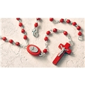 Confirmation Wood Bead Rosary with clasp