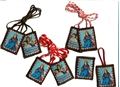St. Philomena Scapular - Brown Cord