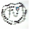 St. John Paul II Wood and Metal Rosary