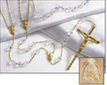 Crystal Wedding Lasso Rosary, Gold