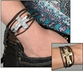 The Way Hammered Cross Wrap Bracelet - Silver