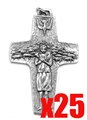 "1"" Pope Francis Pectoral Cross, set of 25"