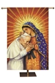 John Paul II and Our Lady of Guadalupe Worship Banner