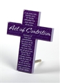 Purple Cross with Act Contrition Prayer