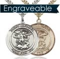 St Michael Pray For Us Round Medal