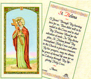 Saint Helena Laminated Prayer card