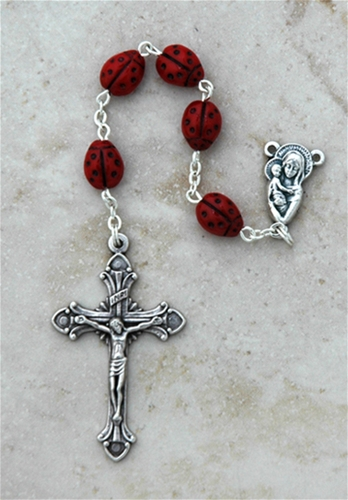 Ladybugs Italian Glass Rosary