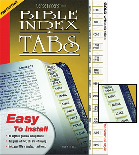 Protestant Bible Index Tabs