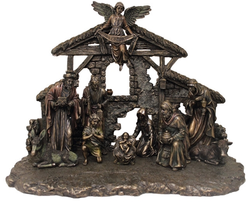 11 Piece Bronze Nativity