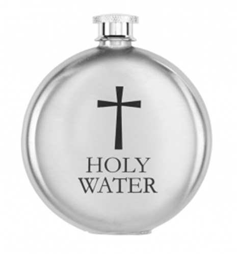 Stainless Steel Holy Water Bottle 5 oz