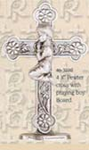 Communion Table Cross with Praying Boy