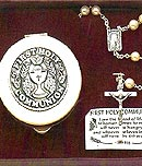 Communion Pearl Rosary and Case Set