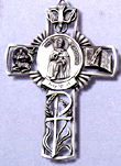 St Peregrine Pewter Cross