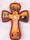 8.5 inch Divine Mercy Wooden Wall Cross
