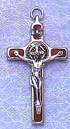 St Benedict Red Crucifix
