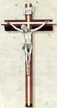 Fine Wood and Metal 10 inch Crucifix