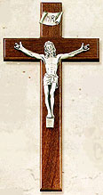 Fine Wood and Metal 12 inch Crucifixes