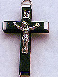 Small Black Wood Crucifix