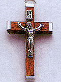 Small Brown Wood Crucifix