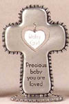 Baby Girl Pewter Table Cross