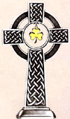 Celtic Pewter Shamrock Table Cross