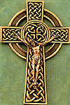 8 inch Bronze Celtic Wall Crucifix