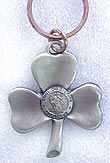 Shamrock & St Christopher Key Chain