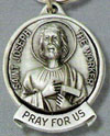 St. Joseph-Worker Pewter Key Chain