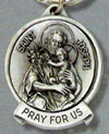 St. Joseph Pewter Key Chain