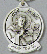 St. Robert Pewter Key Chain