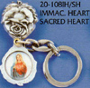 Immaculate Heart-Sacred Heart Key Chain