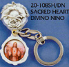 Sacred Heart-Immaculate Heart Key Chain