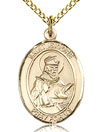 St Isidore Gold Filled Medal