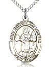 St Isidore the Farmer Sterling Silver Medal