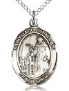 St Jacob of Nisibis Sterling Silver Medal